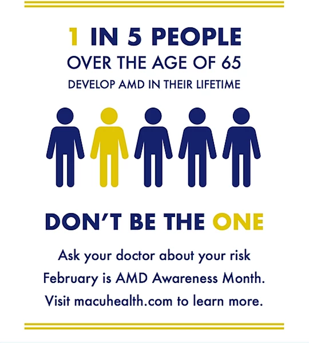 February is Age Related Macular Degeneration Awareness Month!